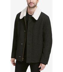 cole haan men's coat with fleece collar