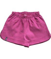 shorts feminino básico tóing kids pink