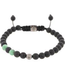 emerald and onyx bead bracelet