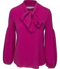roze dames blouse met strik voorkant rinascimento - cfc0085163003