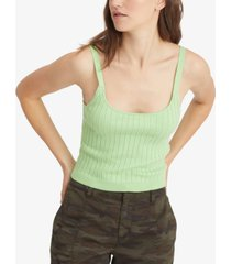 sanctuary ribbed cropped sweater camisole
