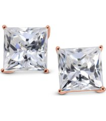 arabella swarovski zirconia square stud earrings