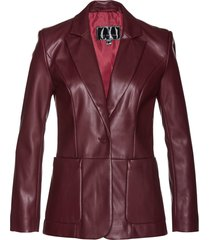 blazer lungo in similpelle (rosso) - bpc selection