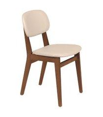 cadeira london tramontina 14060131 amêndoa estofado bege