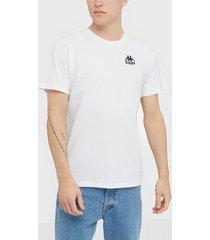 kappa t-shirt s/s auth wollie t-shirts & linnen vit/svart