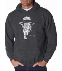 la pop art men's word art hoodie - al capone - original gangster