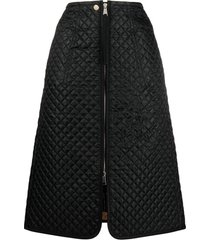 moncler genius quilted a-line skirt