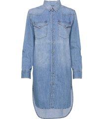 de-blanche dress jurk knielengte blauw diesel women