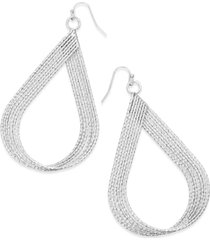 inc diamond-cut multi-row twisted teardrop drop earrings, created for macy's