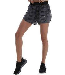 shorts nike air - feminino - cinza escuro