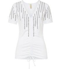 maglia a costine con strass (bianco) - bodyflirt boutique