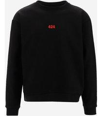 424 designer sweatshirts, 424 black cotton men's sweatshirt