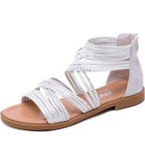 zapatos planos con cremallera sandalias romanas mujer
