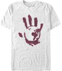 fifth sun men's bloody hand short sleeve crew t-shirt