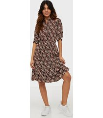 calvin klein prt ss elastic waist shirt dress loose fit dresses