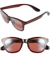 women's maui jim hana bay 51mm polarizedplus2 sunglasses - burgundy/ maui rose