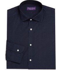 woven cotton dress shirt