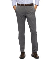 men's big & tall bonobos weekday warrior athletic stretch dress pants, size 38 x 36 - grey