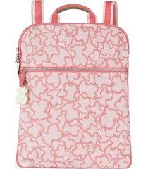 mochila kaos new colores de nylon rosa tous