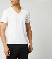 maison margiela men's collar print jersey t-shirt - white - s