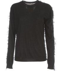 uma wang l/s knit ribbed oversized sweater crew neck
