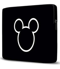 capa para notebook mickey 15.6 à 17 polegadas preto - feminino