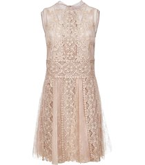 laced all-over sleeveless dress