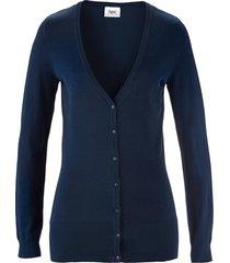 cardigan basic in filato fine con bottoni (blu) - bpc bonprix collection