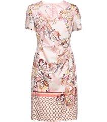 dress woven fabric knälång klänning rosa gerry weber