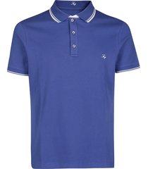 fay blue cotton polo shirt