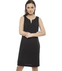 vestido calvin klein sheath negro - calce regular