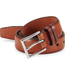 cole haan men's feathered edge leather belt - british tan - size 44