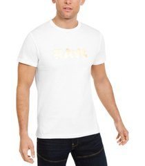 g-star raw men's foil logo t-shirt