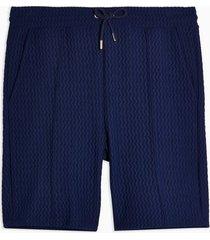 mens navy textured jersey shorts