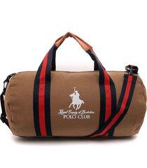 maletín café-azul-rojo royal county of berkshire polo club