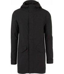 agu regenjas men urban outdoor long parka premium rain jacket black-xl