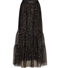paint dot nynne skirt knälång kjol svart becksöndergaard