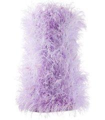 ostrich-feather mini dress