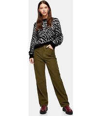 forest green corduroy parallel straight jeans - forest