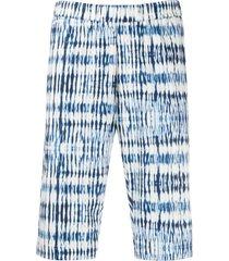 barena graphic print shorts - blue