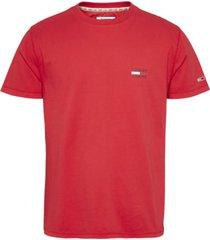 camiseta de algodón orgánico con logo rojo tommy jeans