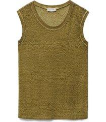 t-shirt scollo barchetta lino