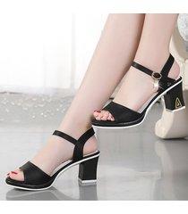 sandalias clásicas abiertas de tacón alto para mujer peep toe