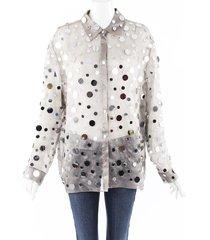rosie assoulin 2019 mirrored sequin silk blouse