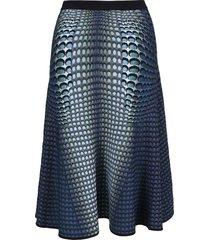 marine serre moonfish skin jacquard-knit skirt