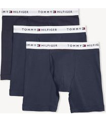 tommy hilfiger men's cotton classics boxer brief 3pk navy - l