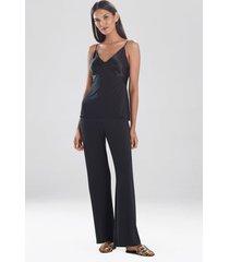 jersey essentials silk cami, lingerie, women's, black, size l, josie natori
