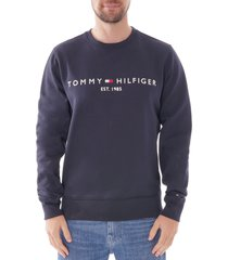 tommy hilfiger logo sweatshirt  sky captain  11596-cjm