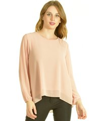 blusa caprice rosa bous
