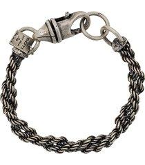 goti robe twisted bracelet - metallic